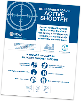 Active Shooter Brochure Cover