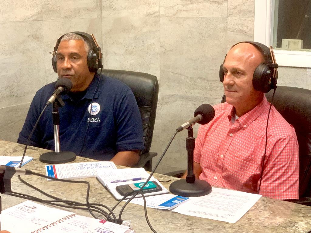 FEMA Emergency Division Director Mark Walters and VITEMA Director Daryl Jaschen